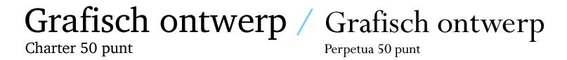 Vergelijking Charter Perpetua