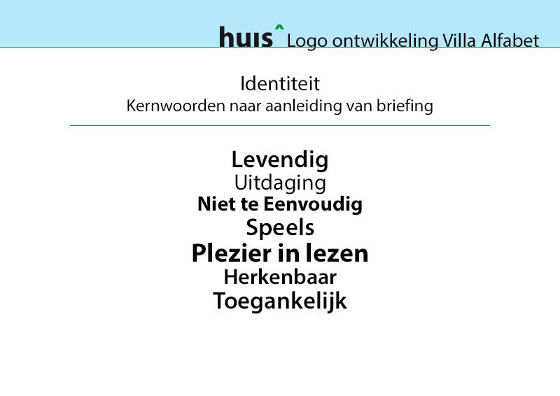 Kernwoorden gebruikt in Logo Ontwerp Villa Alfabet