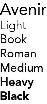 Lettertype Avenir