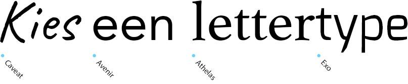 Kies een lettertype